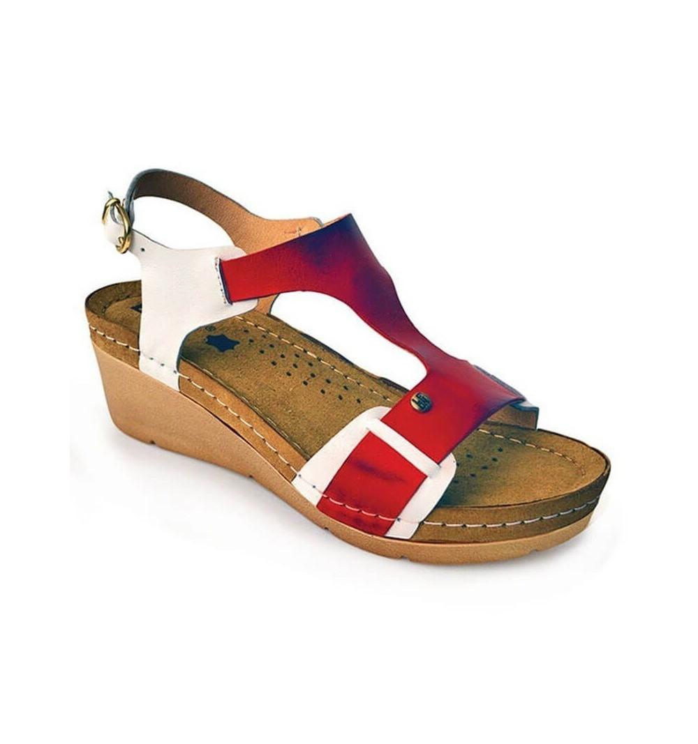 Sandale dama, din piele, de vara, Leon 1010