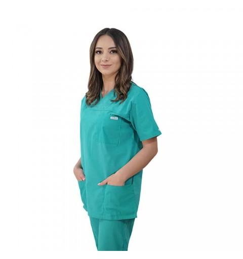 Costum medical Lotus 1, Basic 1, verde chirurgical