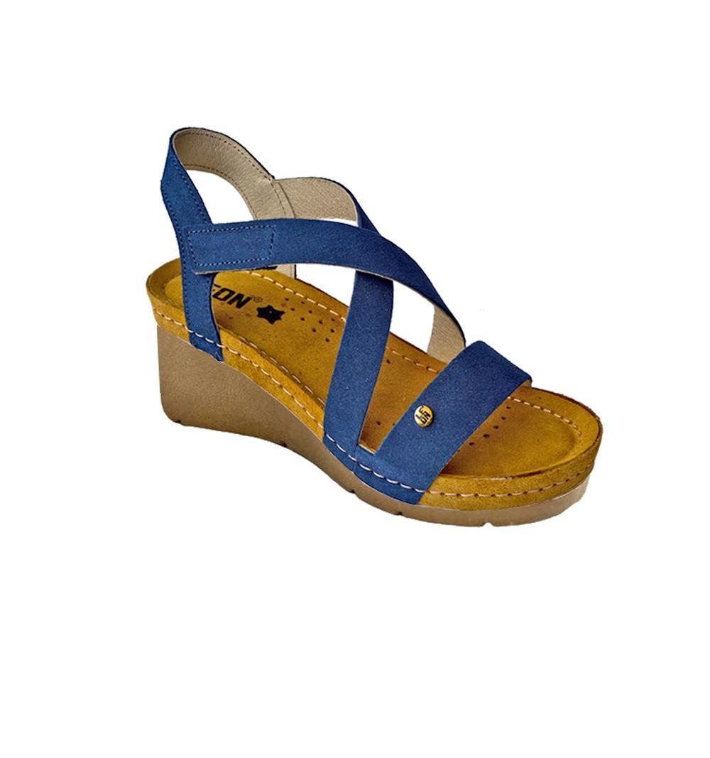Sandale dama, din piele, de vara, Leon 1005