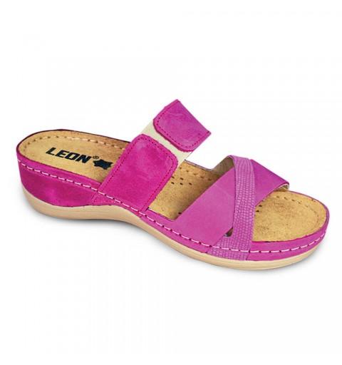 Sandale ortopedice dama Leon 908, ciclam