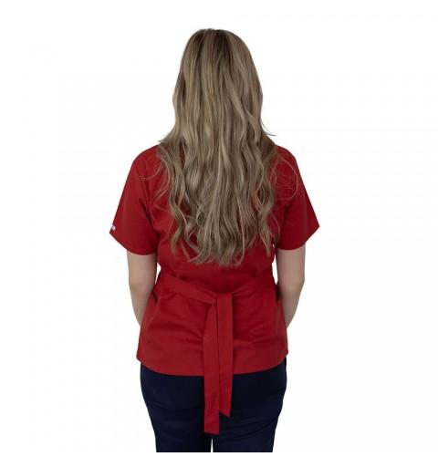 Bluza kimono cu maneca scurta, Lotus 2, rosu