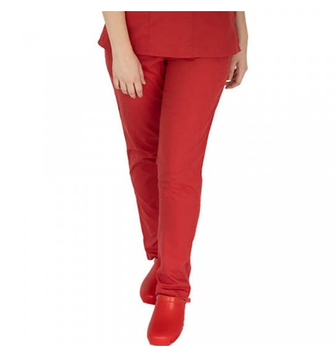 Pantalon unisex Lotus 4, rosu