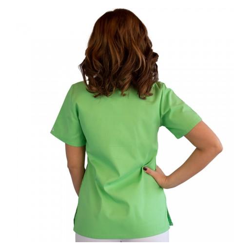 Bluza asimetrica cu capse, Lotus 2, verde island