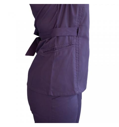 Bluza kimono cu maneca scurta, Lotus 2, indigo