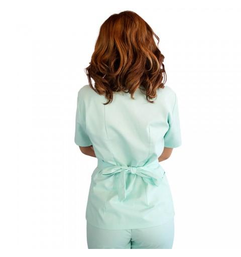 Bluza kimono cu maneca scurta, Lotus 2, verde menta