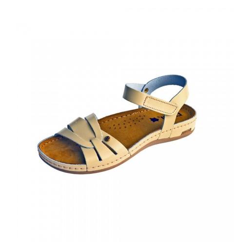 Sandale dama, de vara, din piele, Leon 961