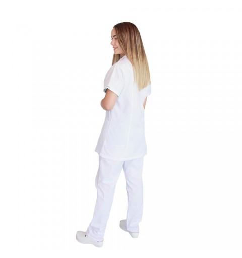 Bluza alba cu rever, pentru femei - B17